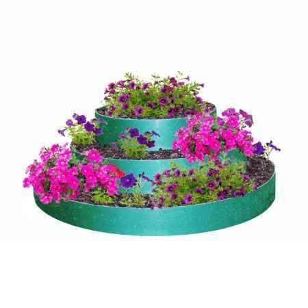 Купить Цветник 3-х ярусный ГарденПласт, S посадки 0,5м2, h36см, зеленый