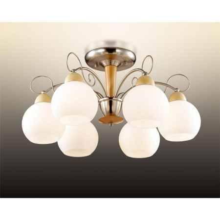 Купить Люстра ODEON LIGHT 2658/6C ODL14 372, E27 6*60W 220V Narbo, никель/дерево/белый