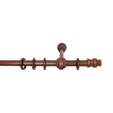 Купить Карниз Уют 39.D28 Темная вишня, однорядный, 150 см