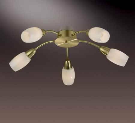 Купить Люстра ODEON LIGHT 2067/5C ODL11 734, E14 5*40W 220V OTTA, матовое золото
