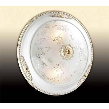 Купить Светильник потолочный ODEON LIGHT 2670/2C ODL14 048, E27 2*60W 220V Corbea, белый с зол.декором/бел