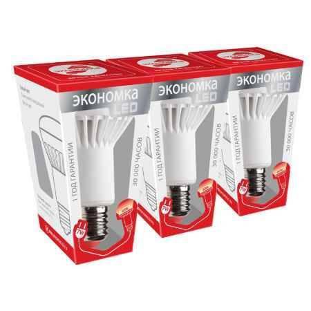 Купить Упаковка ламп 3 шт ЭКОНОМКА РЕФЛЕКТОР R63 7Вт Е27 230v теплый свет (3000K)