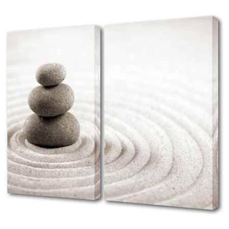 Купить Модульная картина Топпостерс, Загадочные камни, 100х75 см, 2 части