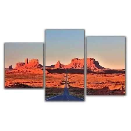 Купить Модульная картина Топпостерс, Каньон, 50x78 см, 3 части