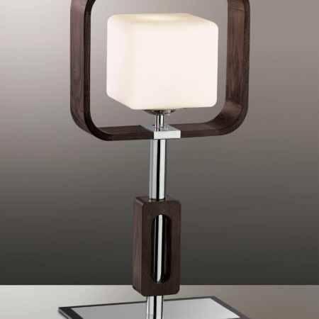 Купить Светильник настольный ODEON LIGHT 2199/1T ODL12 485, E27 60W 220V VIA, хром/тёмное дерево