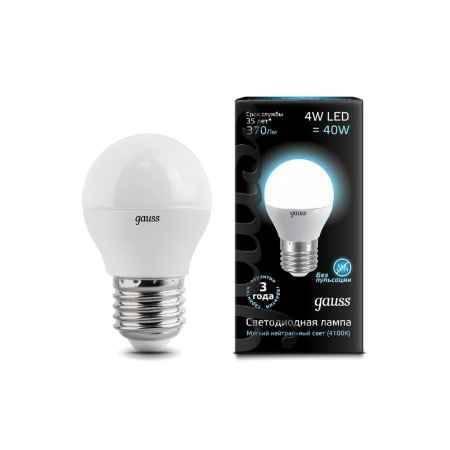 Купить Упаковка ламп 10 шт Gauss LED Globe 4W E27 4100K 1/10/50 EB105102204