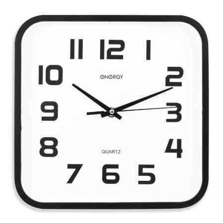 Купить Часы настенные кварцевые ENERGY  ЕС-08 квадратные (009308)