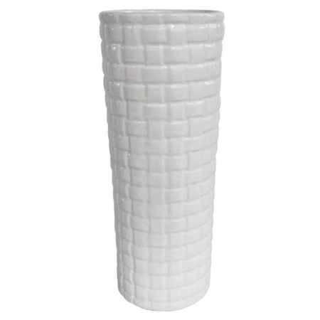 Купить Ваза декоративная Феникс-Презент керамическая 11x11x27.8см, белый