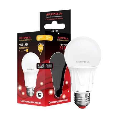 Купить Упаковка ламп 10 шт SUPRA SL-LED-A60-9W/2700/E27-N