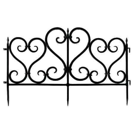 Купить Ограждение садовое Ажурное 3м, цвет черный