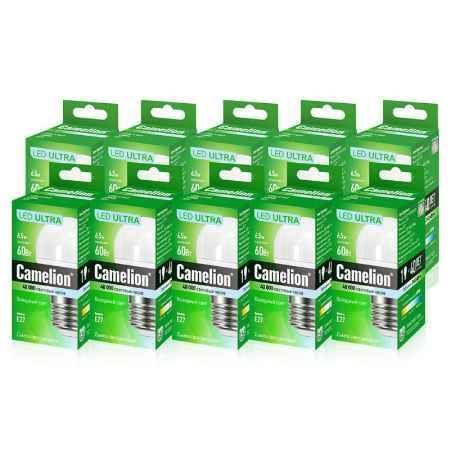 Купить Упаковка ламп светодиодных 10 шт Camelion LED6.5-G45/845/E27