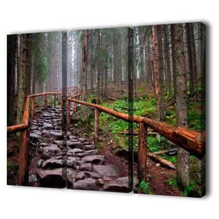 Купить Модульная картина Топпостерс, Дорога камней, 150х100 см, 3 части