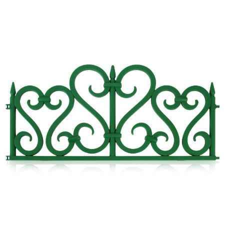 Купить Садовое ограждение Happy Time Ажурное 2,4м, цв. зеленый