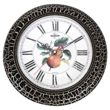 Купить Часы настенные Тройка, с эффектом старения, черное кольцо