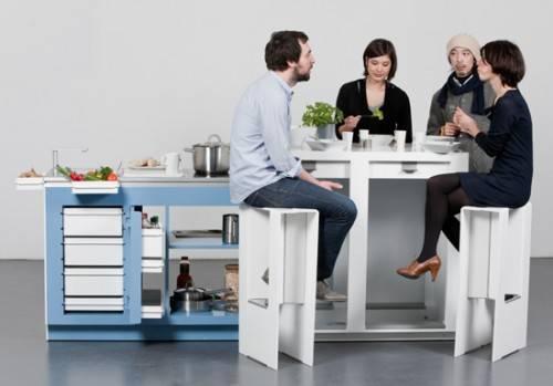 Компактная кухня в офисе