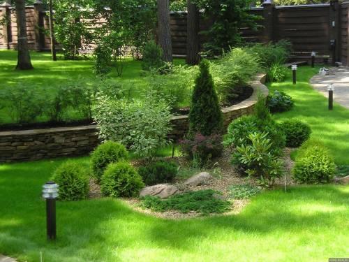 Геопластика в саду своими руками