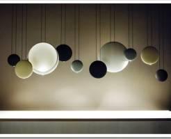 Потолочные светильники в форме шара в интерьере
