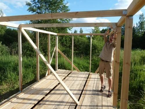 строительство хозблока