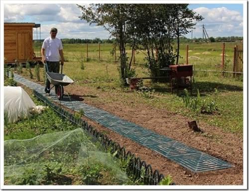 Различные материалы, которые могут быть использованы для садовой дорожки