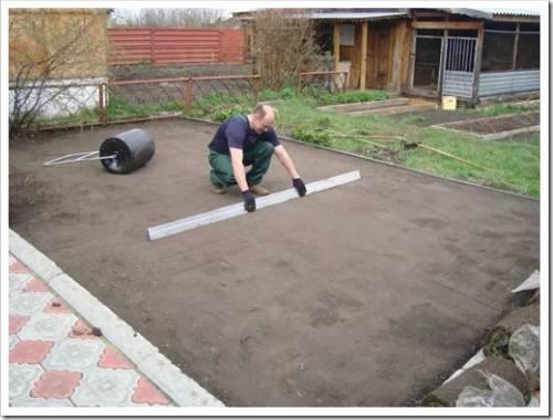 Методика выполнения подготовки участка под газон