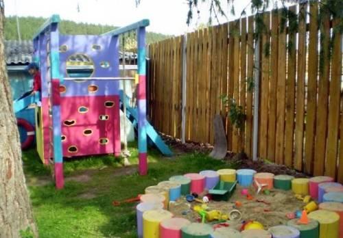 обустройство детской площадка