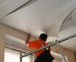 Натяжные потолки: технология монтажа