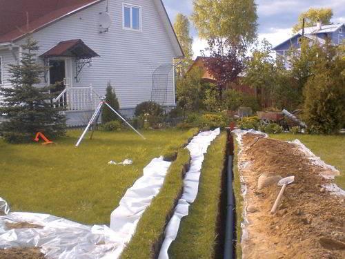 Как провести трубы канализации в частном доме