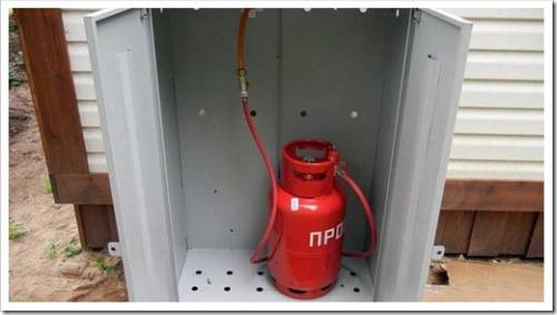 Рекомендации в отношении подключения газовых баллонов