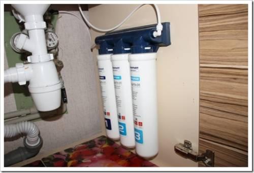 Установка индивидуальных фильтров для воды на дачу