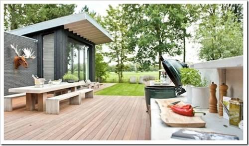 кухня под открытым небом в огороде