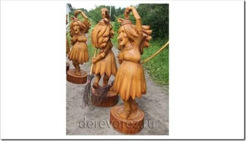 Эксклюзивная садовая скульптура Бабы Яги