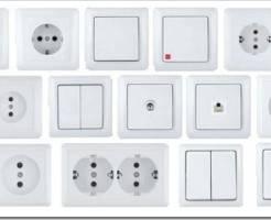Розетки, выключатели и другие электротехнические товары