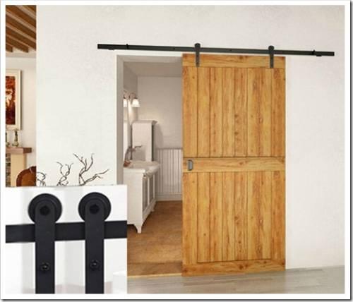 Распашная дверь может быть трансформирована в раздвижную