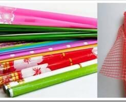 Виды упаковочных материалов для цветов