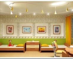 Как расположить точечные светильники в детской комнате?