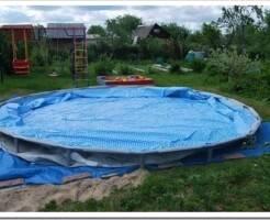 Как натянуть тент на бассейн
