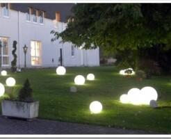 Потолочные и уличные LED светильники в виде шара в интерьере