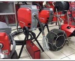 Электрические прочистные машины для труб канализации: виды и применение