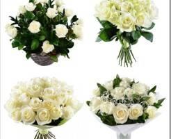 Как красиво собрать букет из белых роз