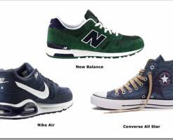 Виды мужских кроссовок