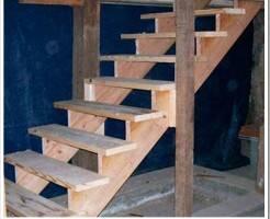 Как сделать деревянную лестницу в подвал