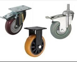 Виды колесных опор и колес для тележек