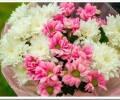 Как сделать красивый букет из хризантем