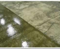 Как делается обеспыливание поверхности бетона с помощью краски ак511