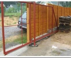 Как установить откатные ворота на даче