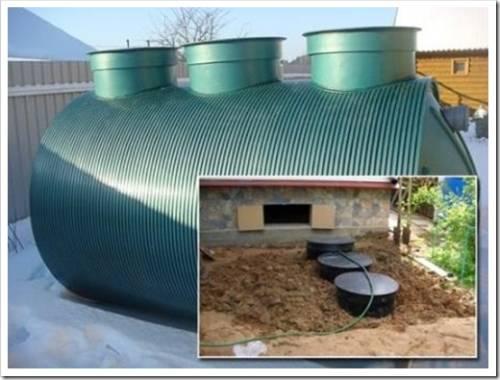 Типичный конструктив локальной канализации