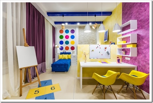 Зонирование и хранение вещей в детской